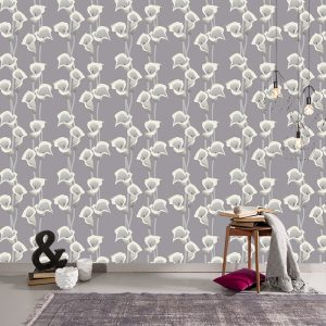 Calla Grey bespoke made to measure wallpaper mural from forthefloorandmore.com