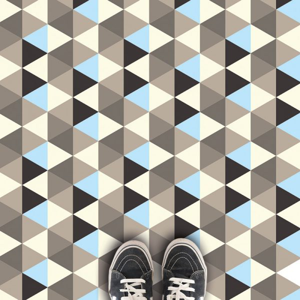 Image of Pyramids geometric patterned vinyl flooring - oodles of style and impact. A classy interpretation of a distinctive design. Make a real impression with your flooring!