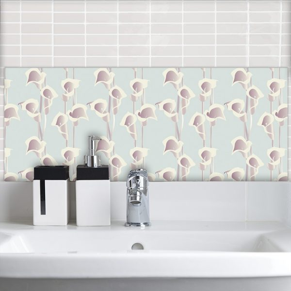 Image of Calla Light pattern design as a Feature Tile from forthefloorandmore.com