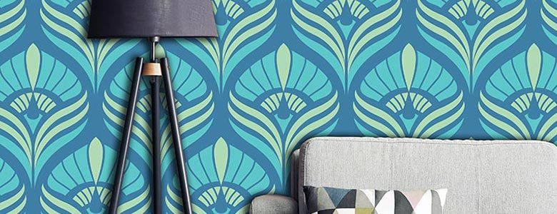 Cequin printed wallpaper pattern - elegant design exclusively from forthefloorandmore.com