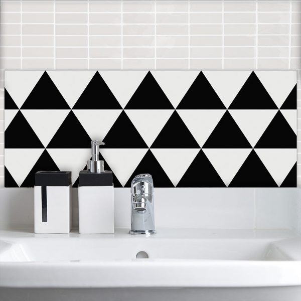 Image of Black Triangle pattern design for Feature Tiles from forthefloorandmore.com