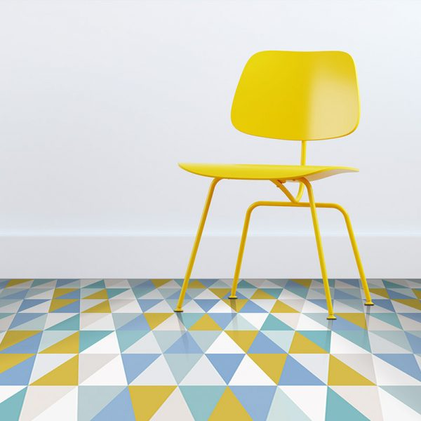 Image of Kaleidoscope Lime design vinyl flooring from For the Floor & More
