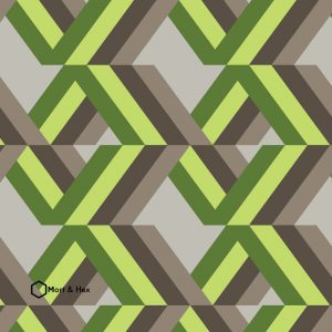 Grafyx Green geometric wallpaper mural from For the Floor and More