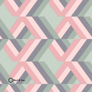 Grafyx Pink geometric pattern from Mort and Hex and forthefloorandmore.com