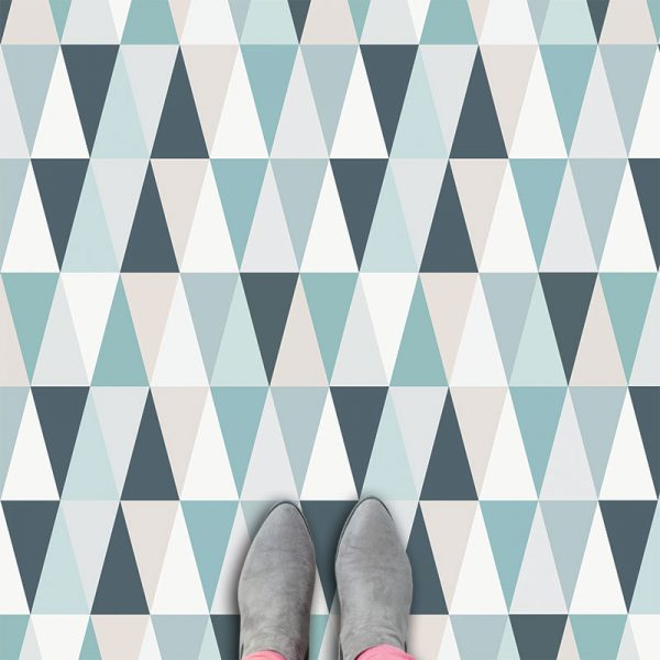 Kaleidoscope Blue vinyl floorcovering from forthefloorandmore.com