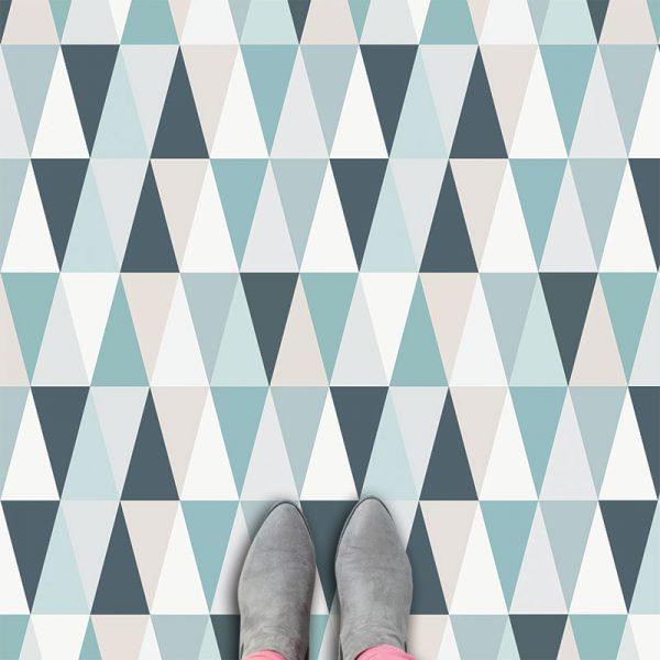 Kaleidoscope Blue vinyl floorcovering from forthefloorandmore.com