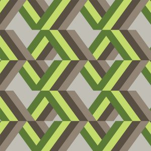 Image of Grafyx Green geometric wallpaper mural from For the Floor and More