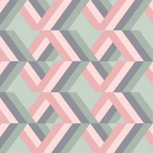 Image of Grafyx Pink geometric pattern from Mort and Hex and forthefloorandmore.com