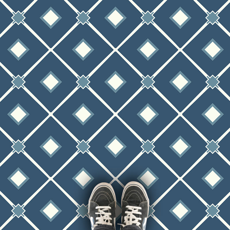 Venetian Blue custom printed vinyl floorcovering from forthefloorandmore.com