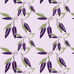 Viola Vine printed glass kitchen splashback from For the Floor & More