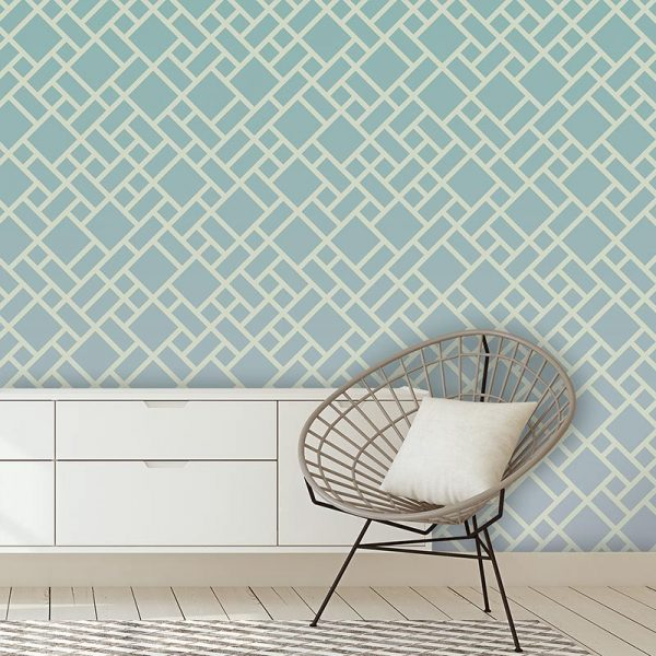 Image of Grafyx bold geometric design with a subtle ombre colour fade. Unique wallpaper design from forthefloorandmore.com