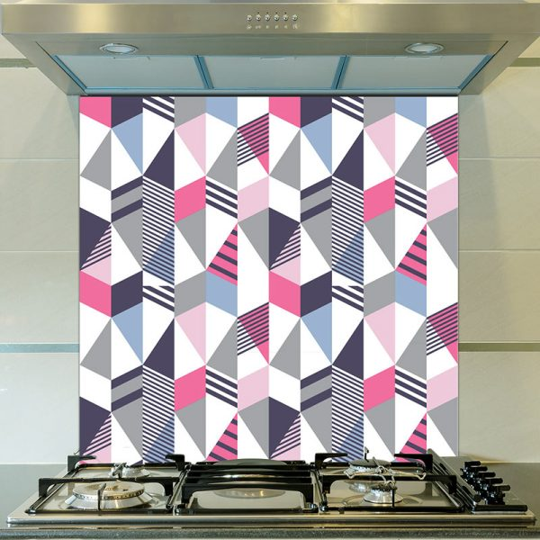 Image of Cibic pattern design as a printed glass splashback from forthefloorandmore.com