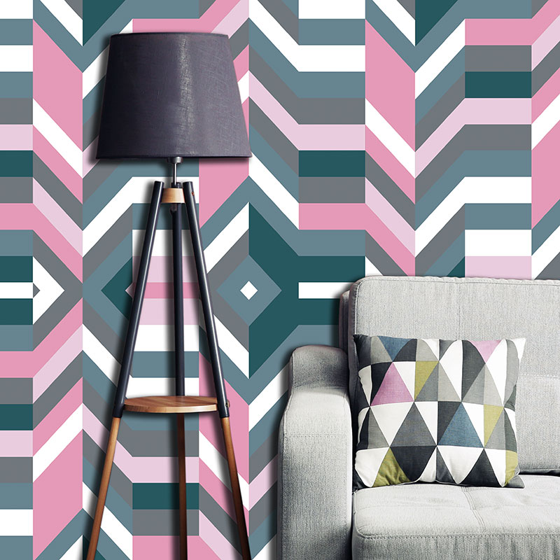 Aldo geometric design by Mort & Hex available as a kitchen splashback, wallpaper, glass Feature Tile or vinyl flooring