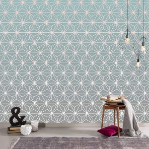 Austaar gradient geometric made to measure wallpaper exclusive to forthefloorandmore.com UK for bespoke wall murals