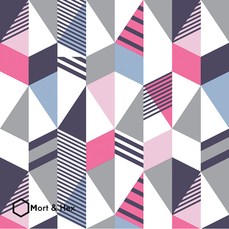 Cibic Mort and Hex design for kitchen splashback feature tile wallpaper or vinyl flooring from Forthefloorandmore.com