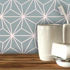 Austaar gradient geometric made to measure wallpaper exclusive to forthefloorandmore.com UK for bespoke wall murals, kitchen splashbacks and glass tiles