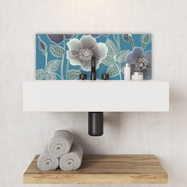 Image of Ila Feature wall Tile adds reall floral sophistication to your home. Looks stunning on glass!