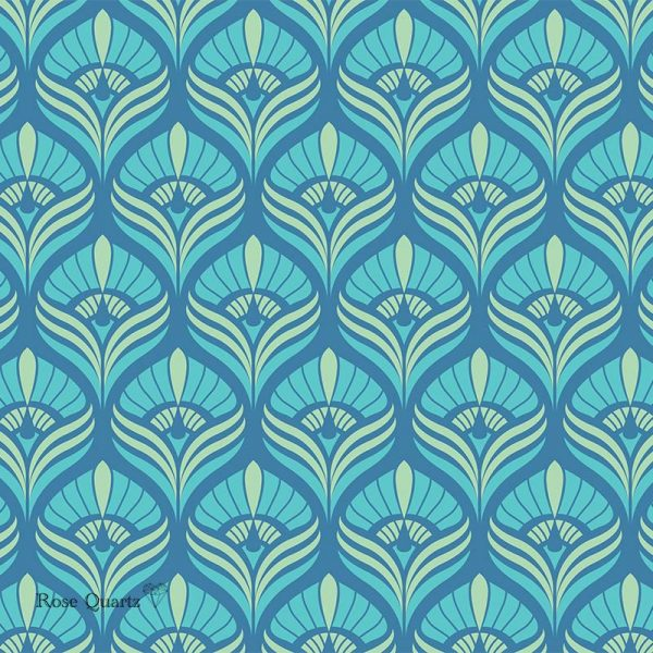 Cequin art deco pattern - beautiful colours and patterns and available as a printed glass kitchen splashback, feature tile, or wallpaper mural from forthefloorandmore.com