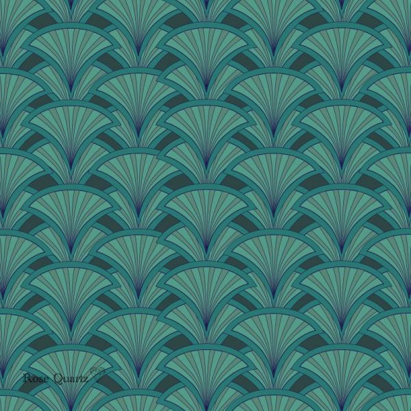 Decoresse art deco pattern - beautiful colours and patterns and available as a printed glass kitchen splashback, feature tile, or wallpaper mural from forthefloorandmore.com