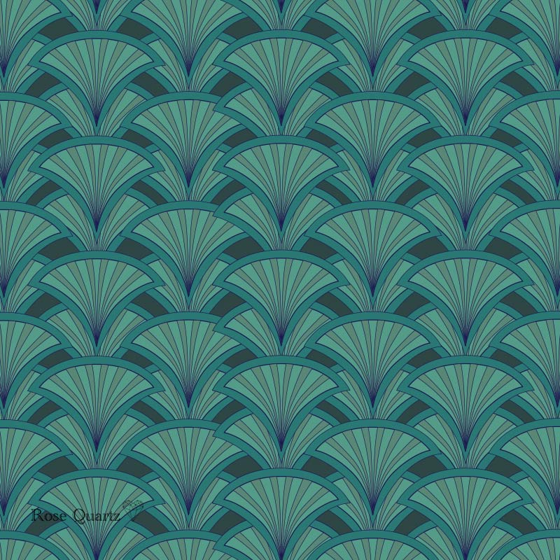 Decoresse art deco pattern - beautiful colours and patterns and available as a printed patterned glass splashback, feature tile, or wallpaper mural from forthefloorandmore.com