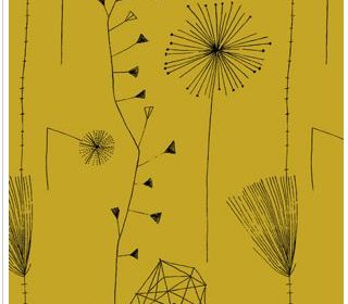 Dandelion Clocks by Lucienne Day - used in a blog post by For the Floor & More