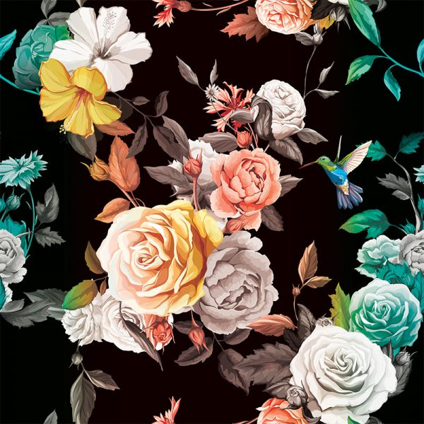 Janna colourful floral wallpaper from forthefloorandmore.com