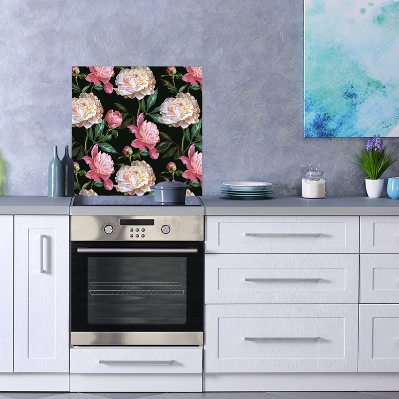 New Floral Splashbacks Flower Power On Glass For The