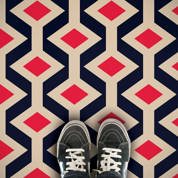 Fenchurch geometric vinyl flooring exlusively from forthefloorandmore.com