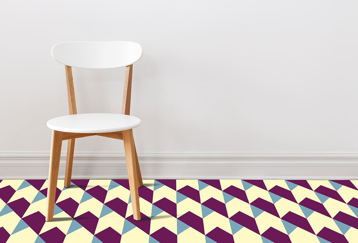 Image of Harrow geometric patterned flooring from forthefloorandmore.com