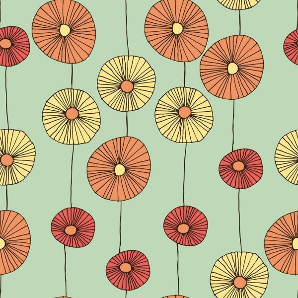 Floresco pattern inspired by Lucienne Day and part of our new SS17 collections