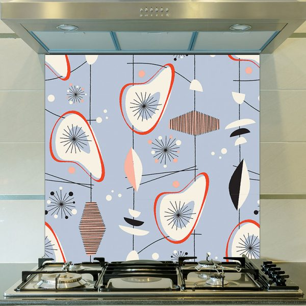 Osten pattern as a glass splashback inspired by Lucienne Day and part of our new SS17 collections