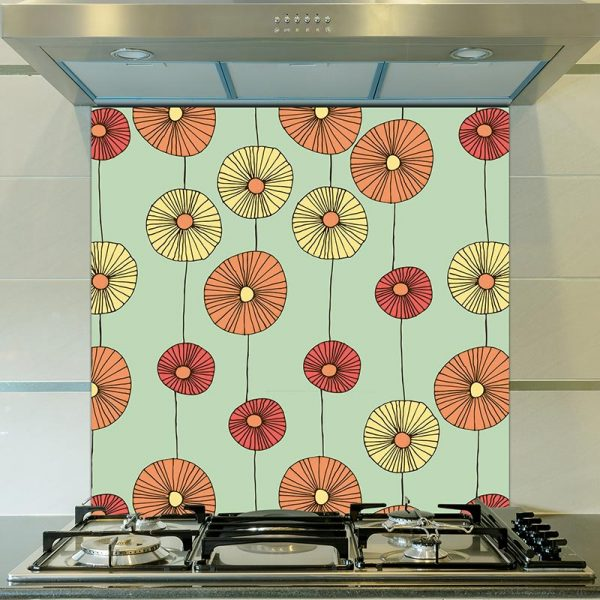 Floresco pattern glass splashback inspired by Lucienne Day and part of our new SS17 collections