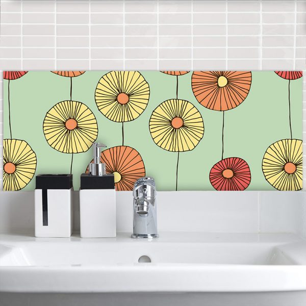 Floresco Feature Tile inspired by the designs of Lucienne Day and sold by forthefloorandmore.com