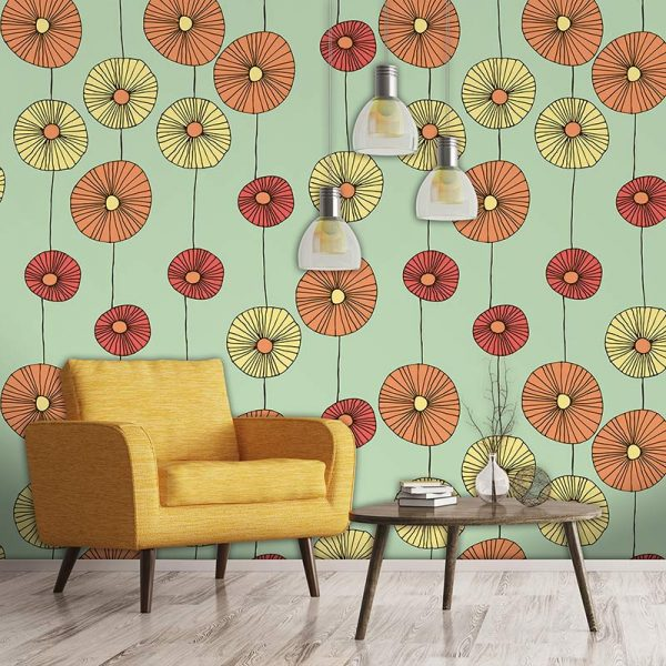 Floresco pattern bespoke wallpaper inspired by Lucienne Day and part of our new SS17 collections