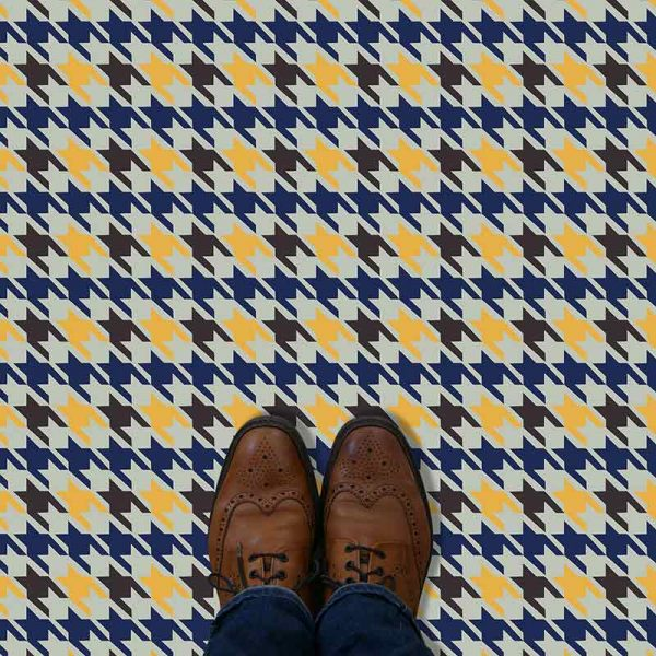 Image of Bromley printed vinyl flooring pattern - colourful and distinctive designs from forthefloorandmore.com