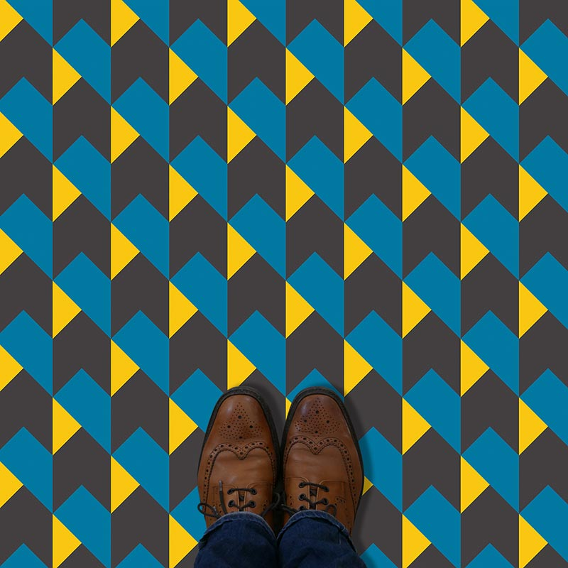 Image of Harrow printed patterned vinyl flooring - oodles of style and impact. A classy interpretation of a distinctive design. Make a real impression with your flooring!