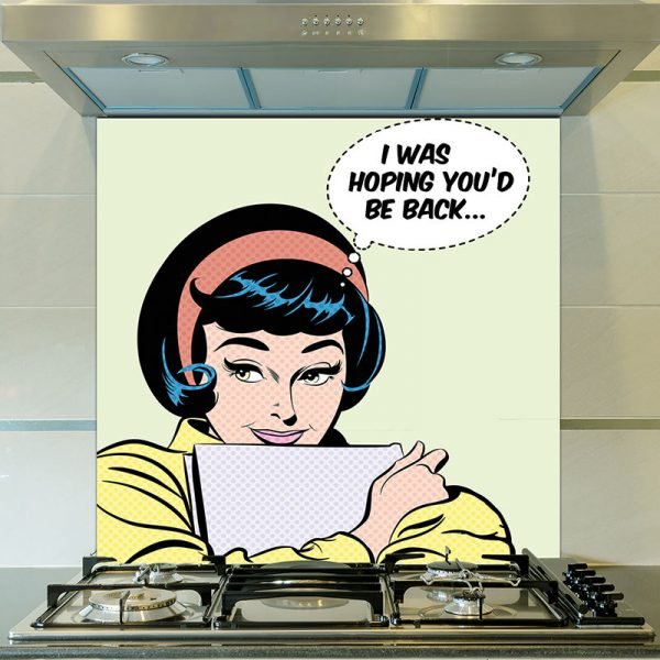 Pop art girl 3 - inspired by pop art and available as bespoke wallpapers and custom glass splashbacks