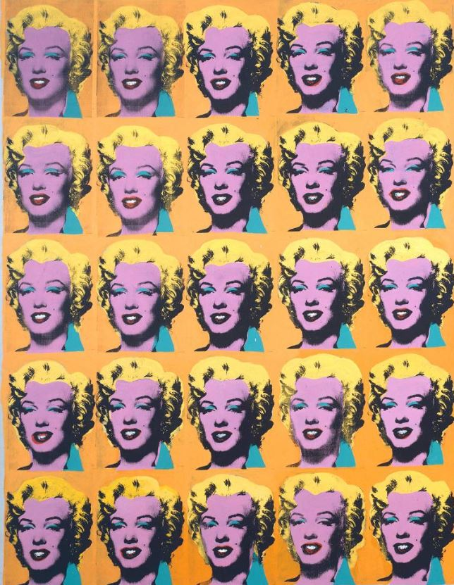Andy Warhol , Marilyn Diptych, 1962 from Tate and used by forthefloorandmore.com in a blog post