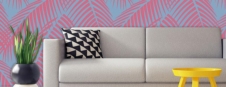 Tropical Feature Tiles Amp Palm Leaf Pattern Splashbacks