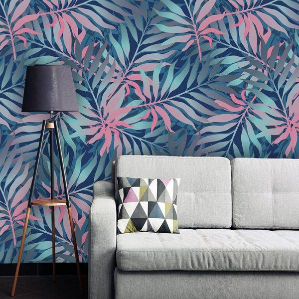 Image of Maui pattern design for bespoke wallpaper mural from forthefloorandmore.com