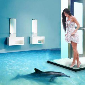 Dolphin 3d vinyl flooring image