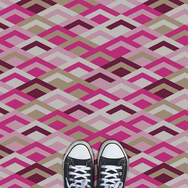 Image of Kaleidoscope Purple design vinyl flooring from For the Floor & More