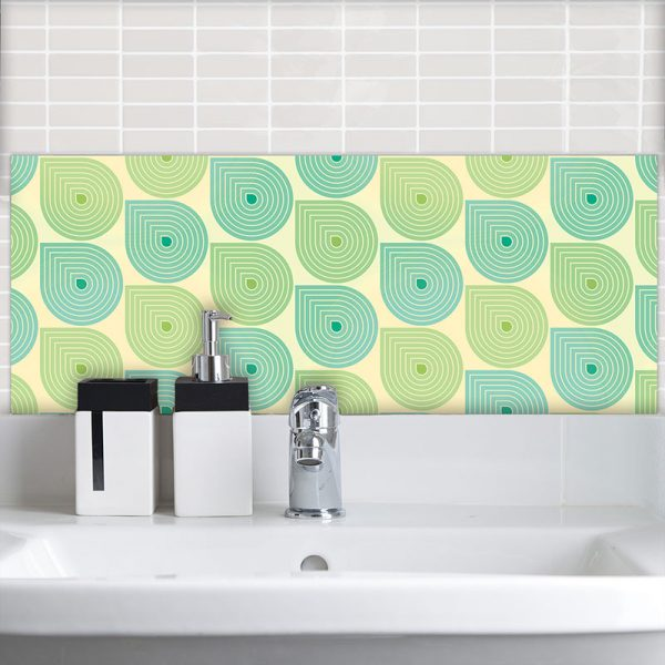 Image of Sommer design available as a colourful and vibrant Feature Tile from forthefloorandmore.com