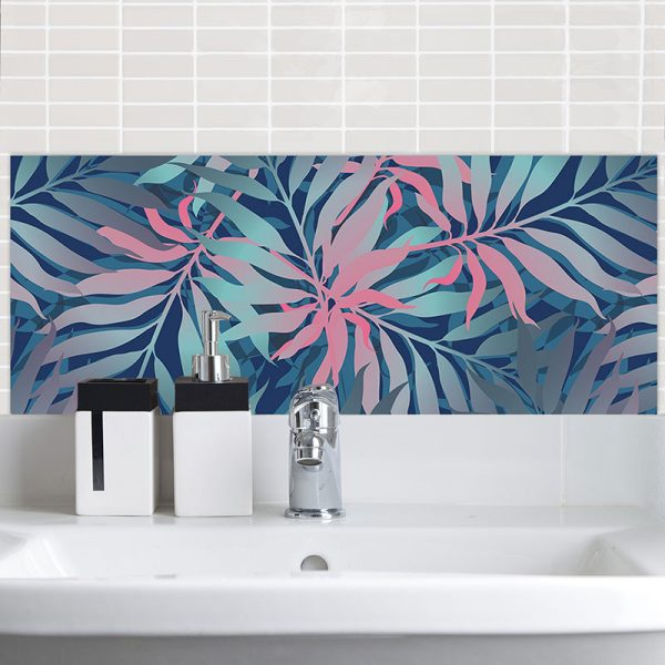 Image of Maui pattern design for glass printed Feature Tile from forthefloorandmore.com