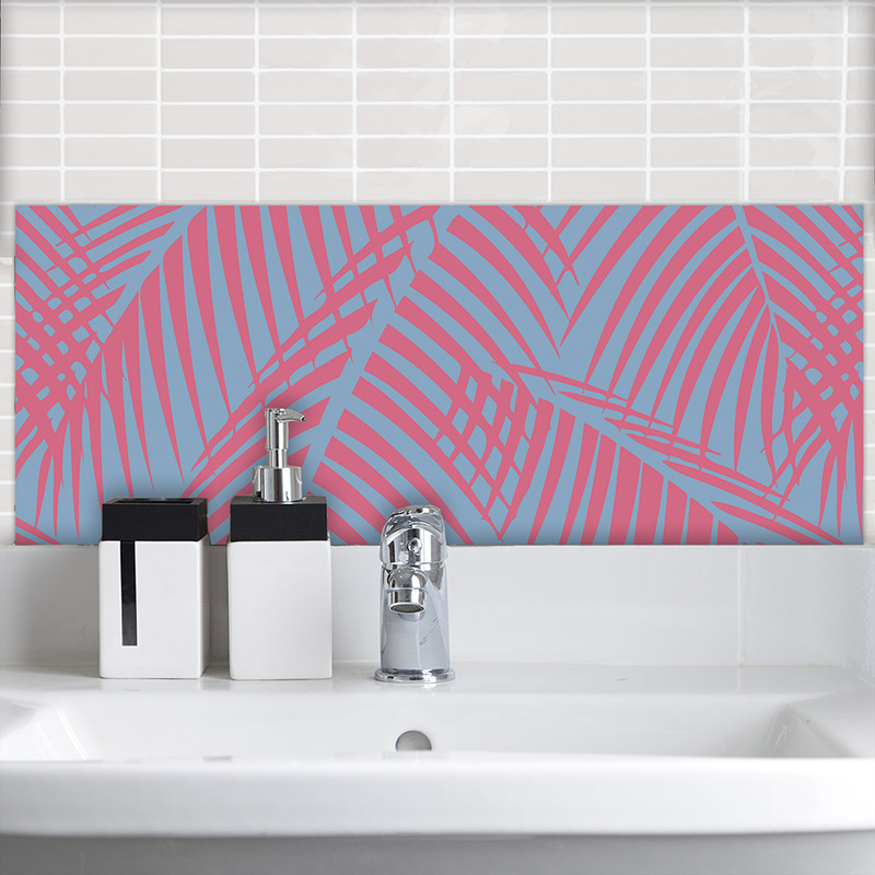Bikini exclusive tropical pattern designed for glass Feature Tiles from For the Floor & More