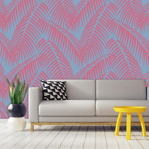 Image of Bikini tropical pattern design as a bespoke wallpaper mural from For the Floor & More