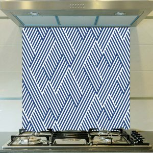 Image of Strand pattern design as a printed glass splashback from forthefloorandmore.com