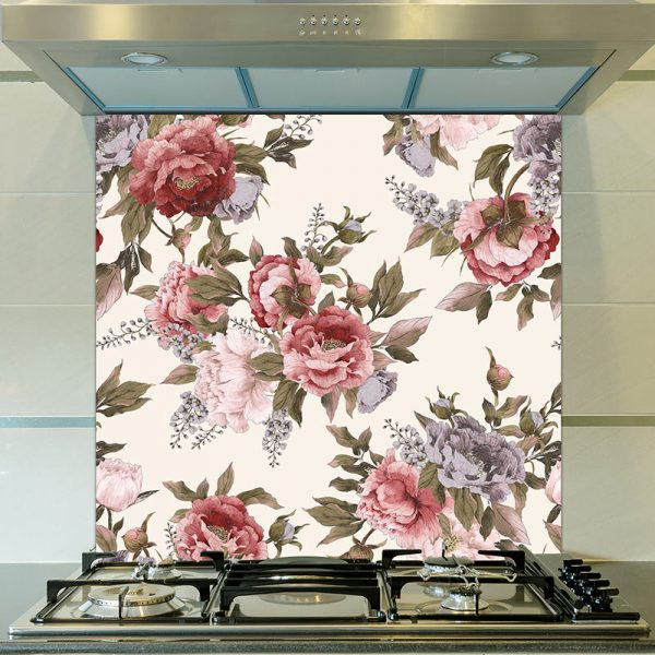 Image of Carin pattern design as a printed glass splashback from forthefloorandmore.com