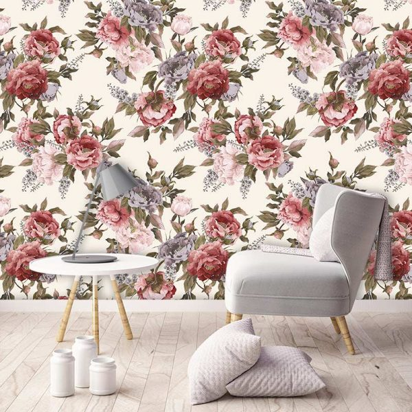Image of Carin design available as a colourful and vibrant made to measure wallpaper mural from forthefloorandmore.com