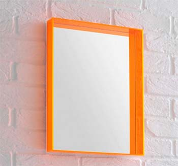 Image of a Bright Orange Mirror - Habitat